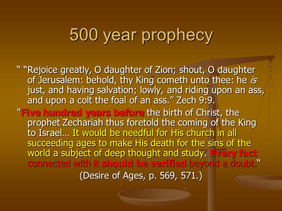 500 year prophecy