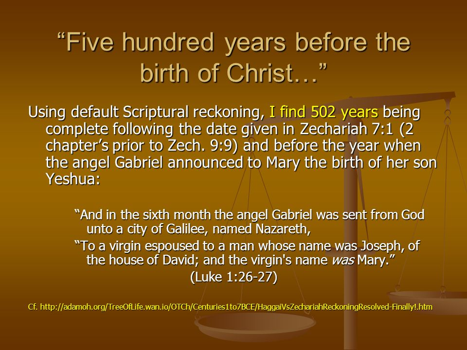 Five hundred years before the birth of Christ…