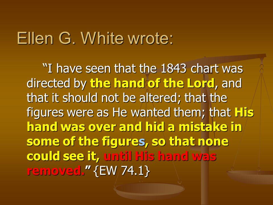 Ellen G. White wrote: