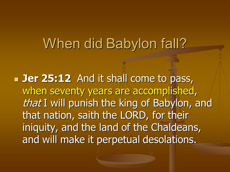 When did Babylon fall
