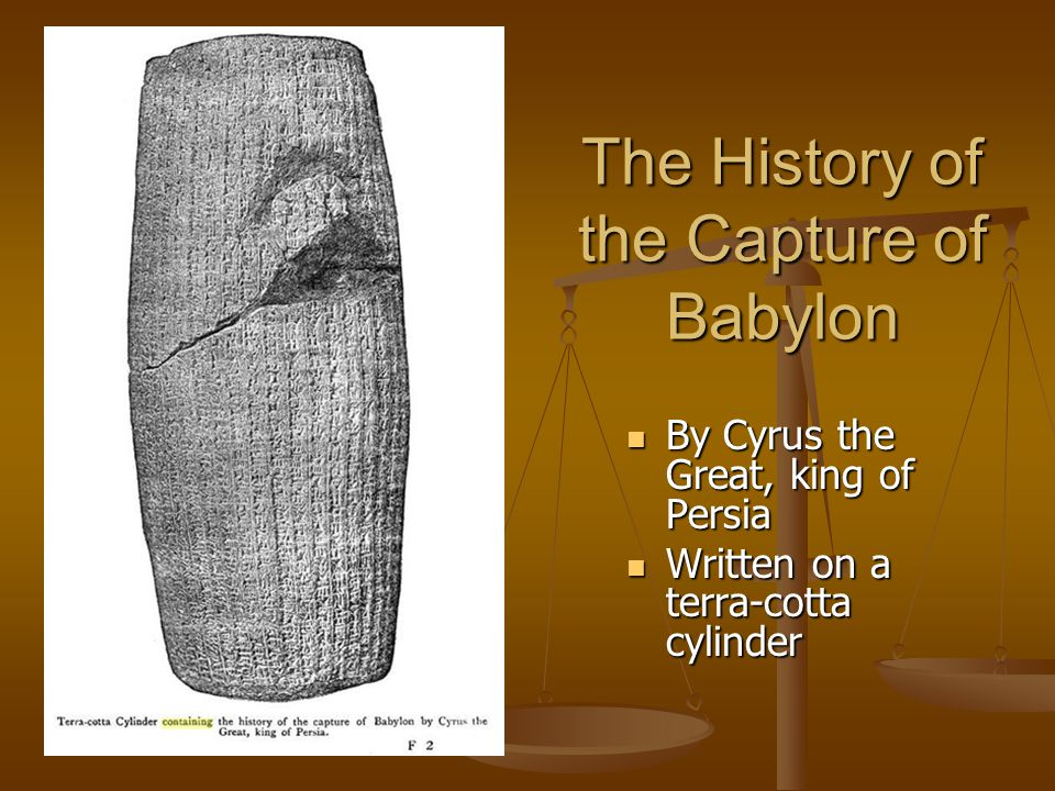 The History of the Capture of Babylon