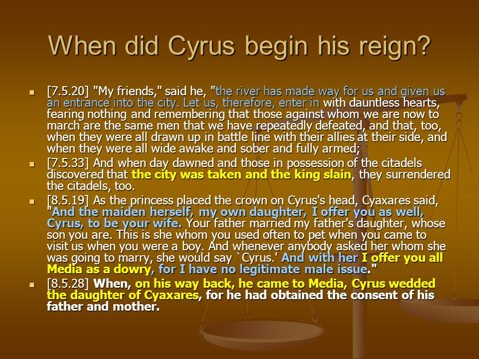 When did Cyrus begin his reign