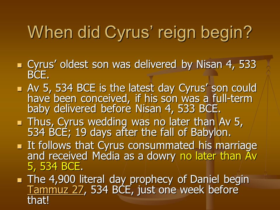When did Cyrus' reign begin