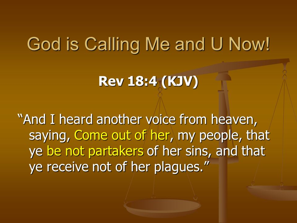 God is Calling Me and U Now!