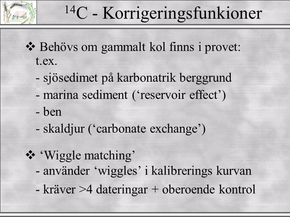 14C - Korrigeringsfunkioner