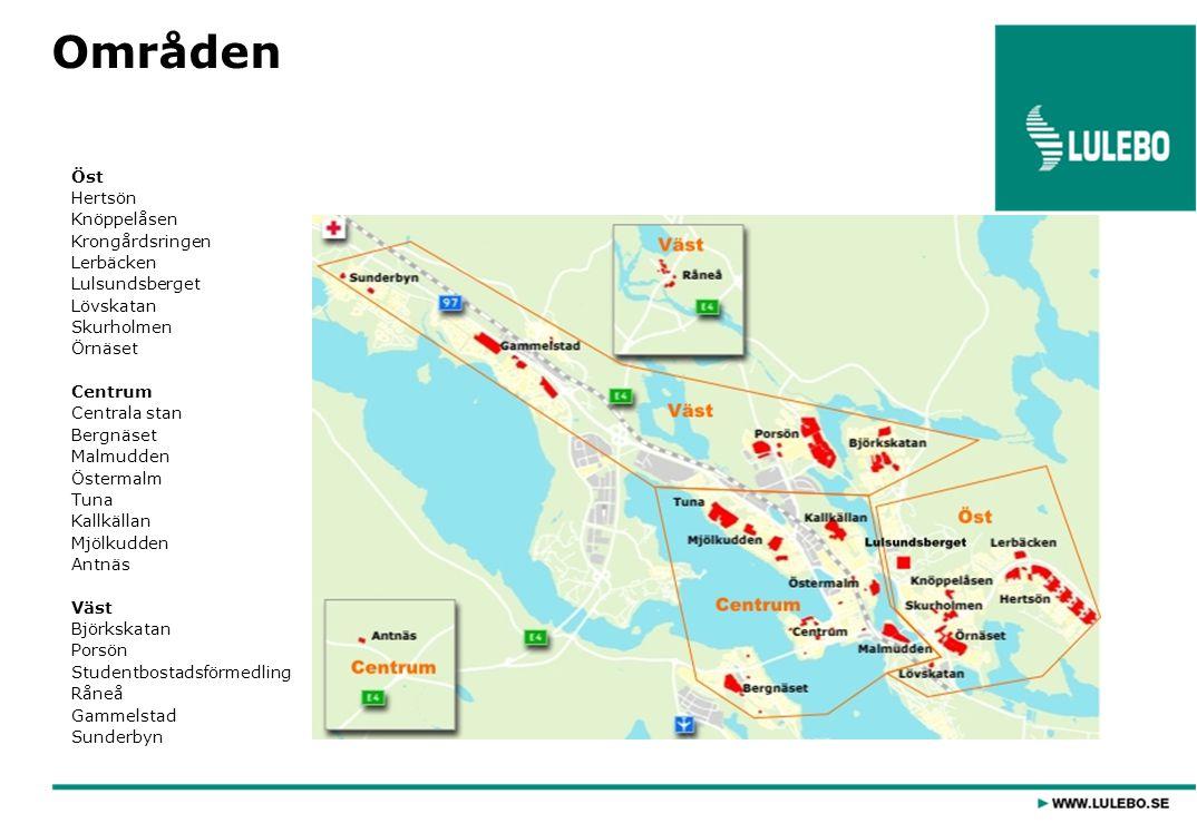 Områden Öst Hertsön Knöppelåsen Krongårdsringen Lerbäcken