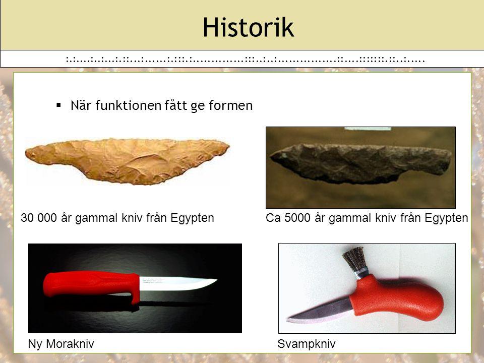 Historik När funktionen fått ge formen