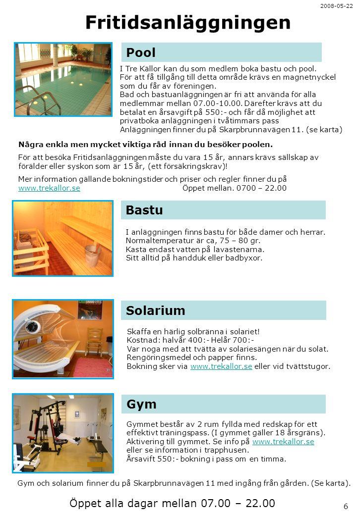 Fritidsanläggningen Pool Bastu Solarium Gym