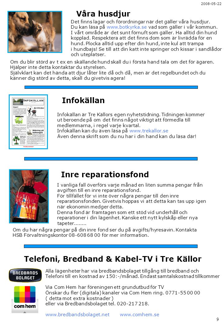 Telefoni, Bredband & Kabel-TV i Tre Källor
