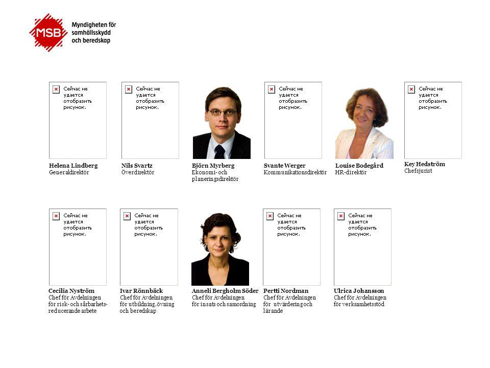 Helena Lindberg Generaldirektör. Nils Svartz. Överdirektör. Björn Myrberg. Ekonomi- och. planeringsdirektör.