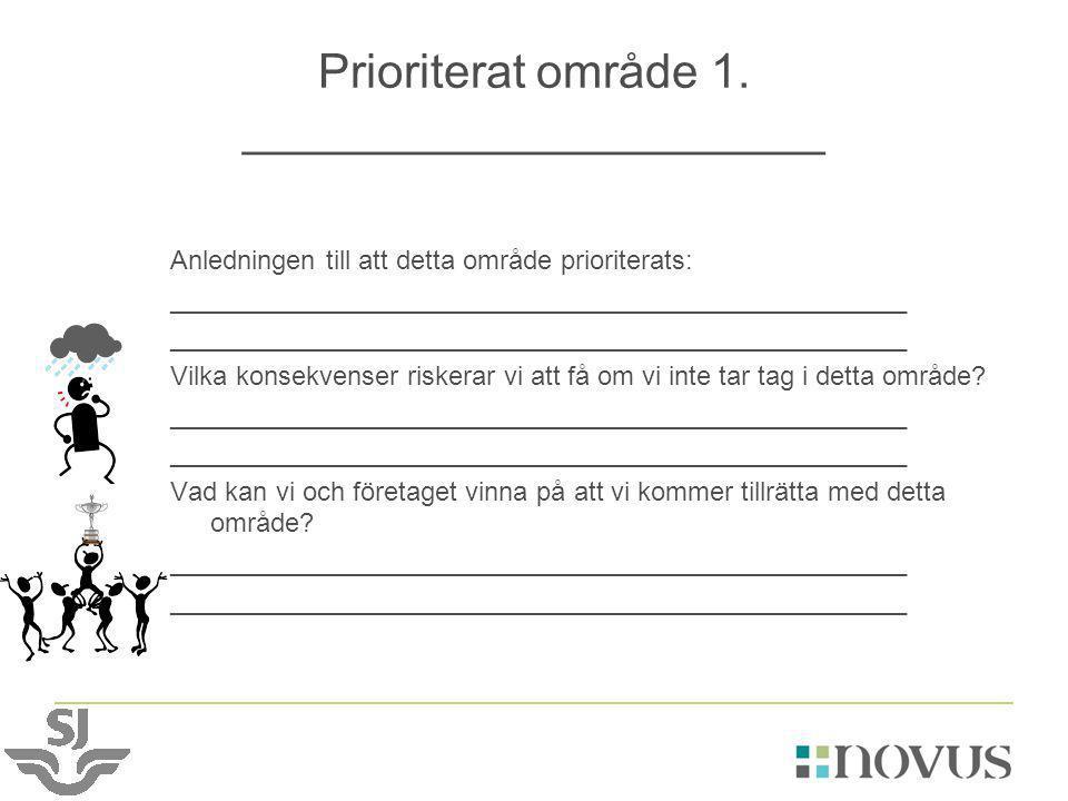Prioriterat område 1. ______________________