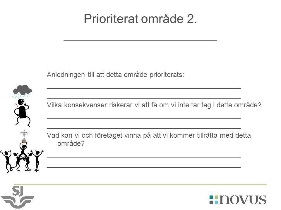 Prioriterat område 2. ______________________
