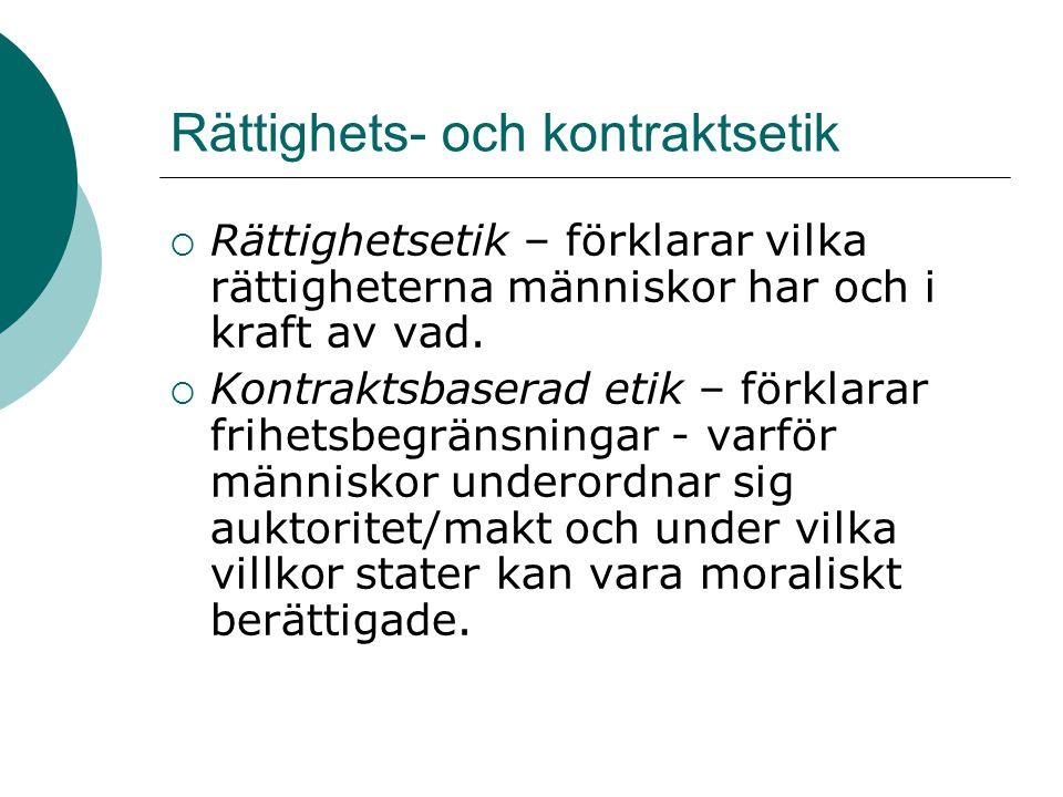 Rättighets- och kontraktsetik
