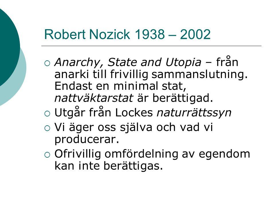 Robert Nozick 1938 – 2002
