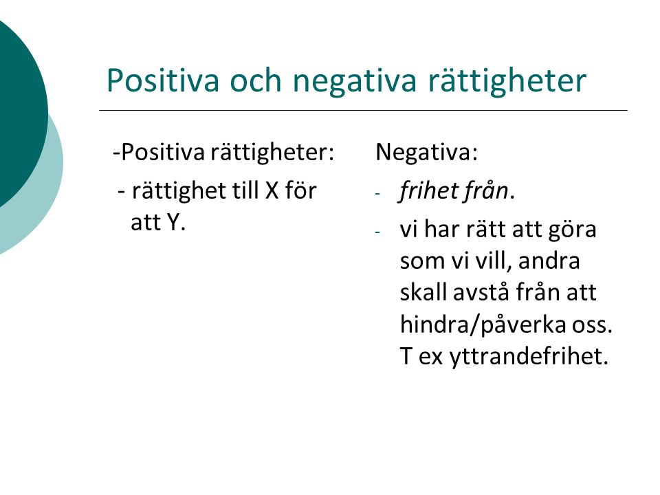 Positiva och negativa rättigheter