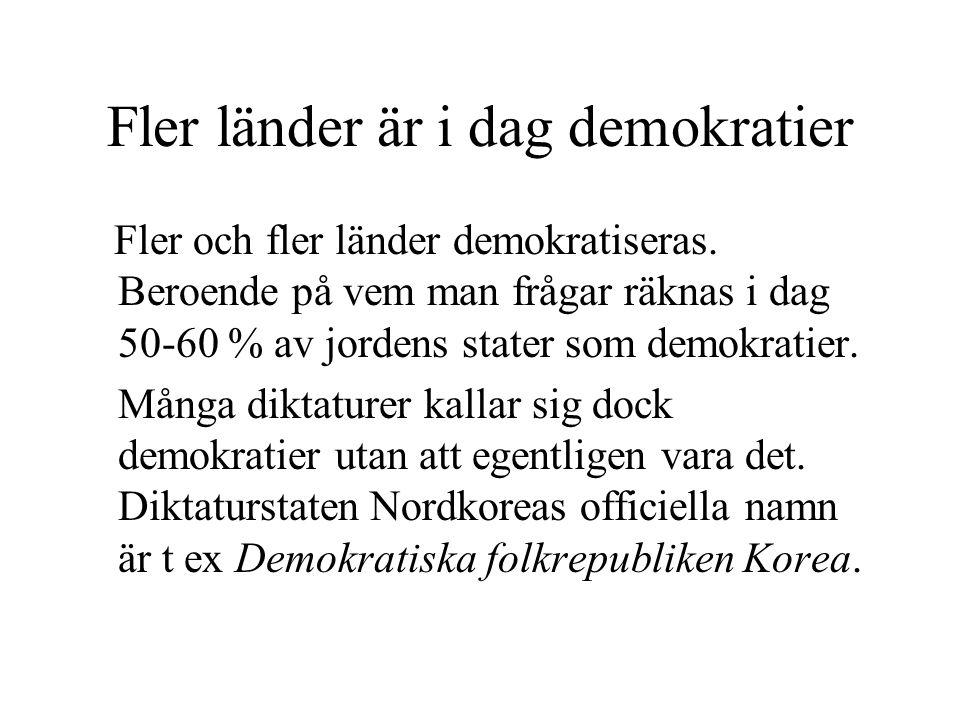 Fler länder är i dag demokratier