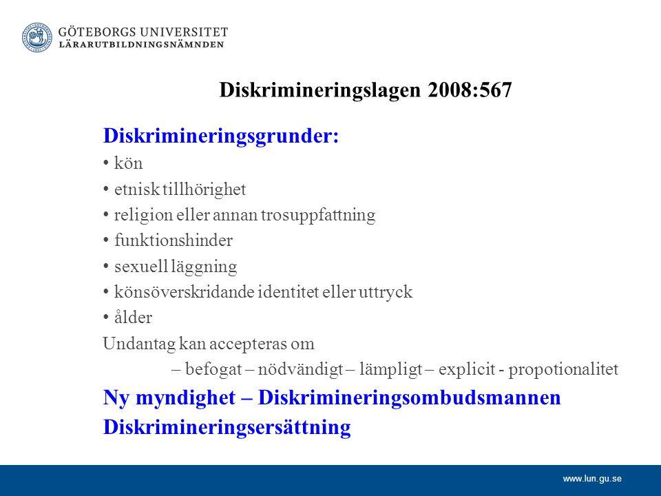 Diskrimineringslagen 2008:567