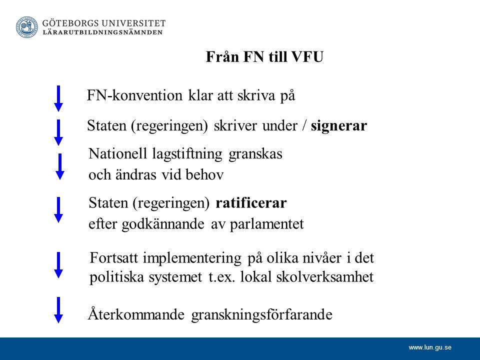 Från FN till VFU FN-konvention klar att skriva på