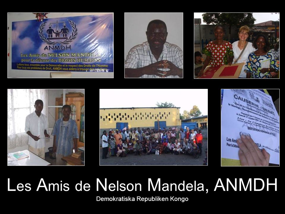 Les Amis de Nelson Mandela, ANMDH Demokratiska Republiken Kongo