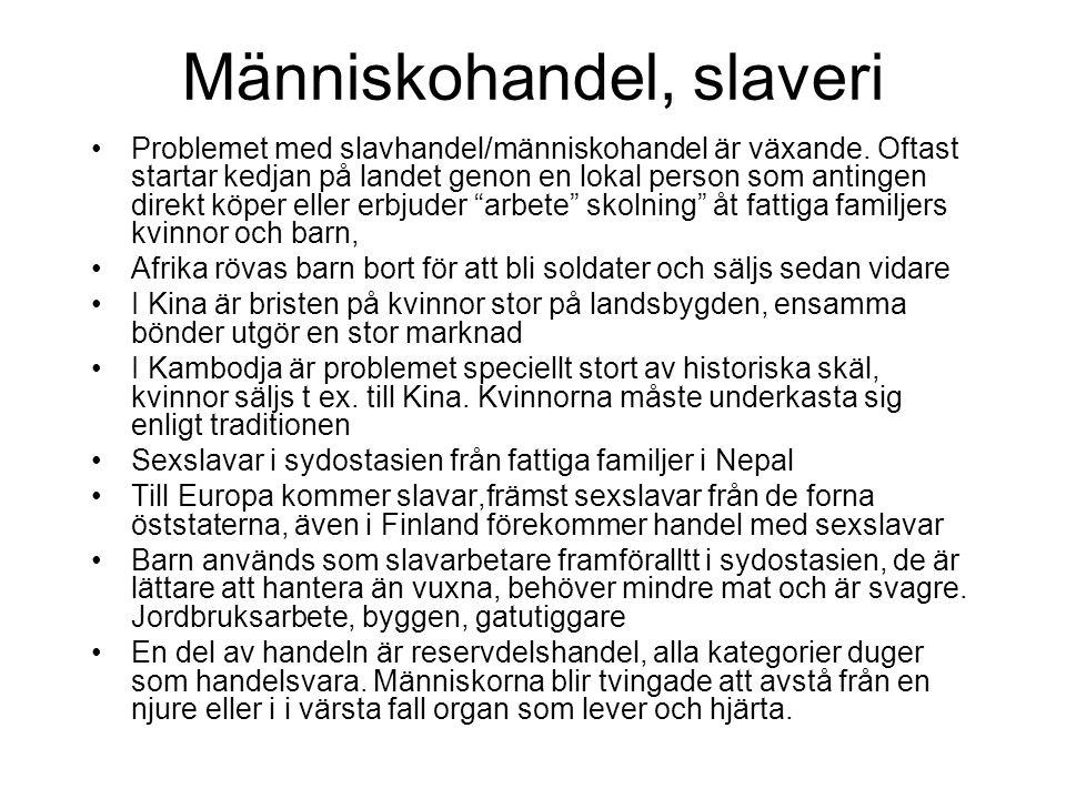 Människohandel, slaveri