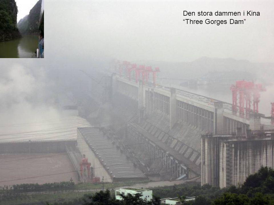 Den stora dammen i Kina Three Gorges Dam