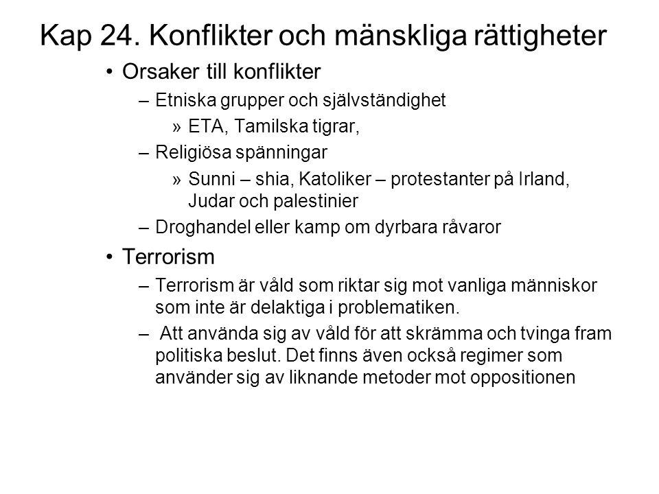 Kap 24. Konflikter och mänskliga rättigheter