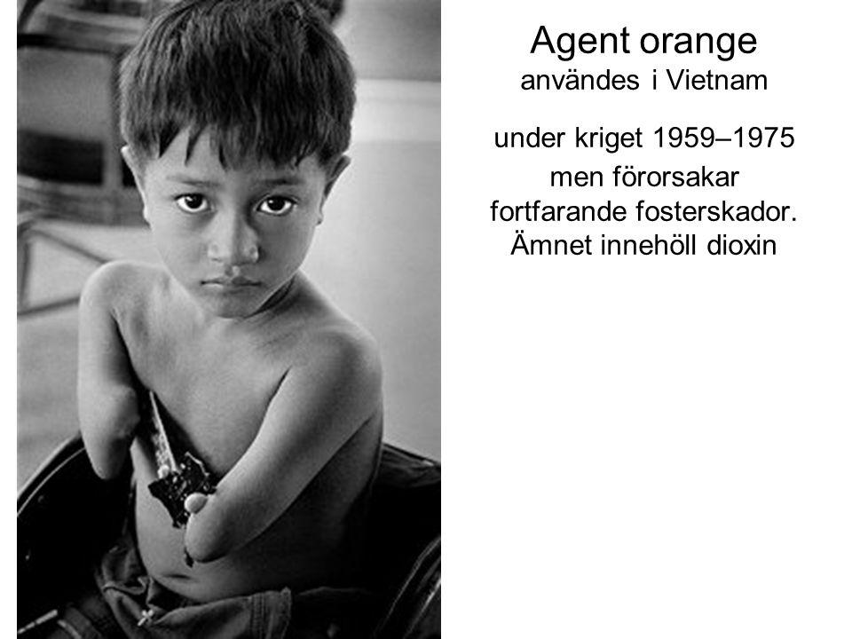 Agent orange användes i Vietnam under kriget 1959–1975 men förorsakar fortfarande fosterskador.