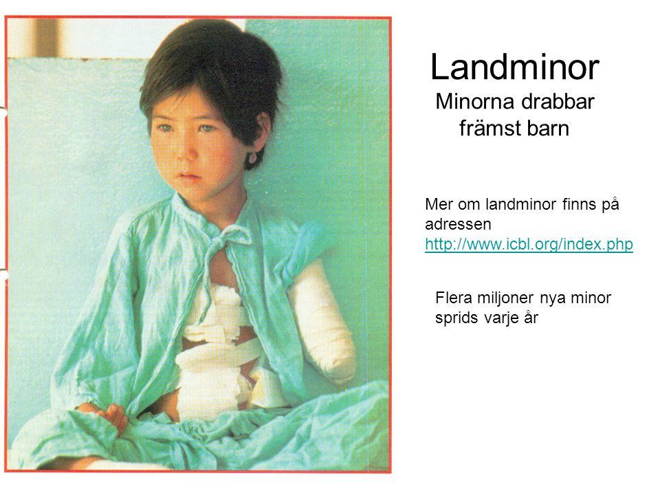 Landminor Minorna drabbar främst barn