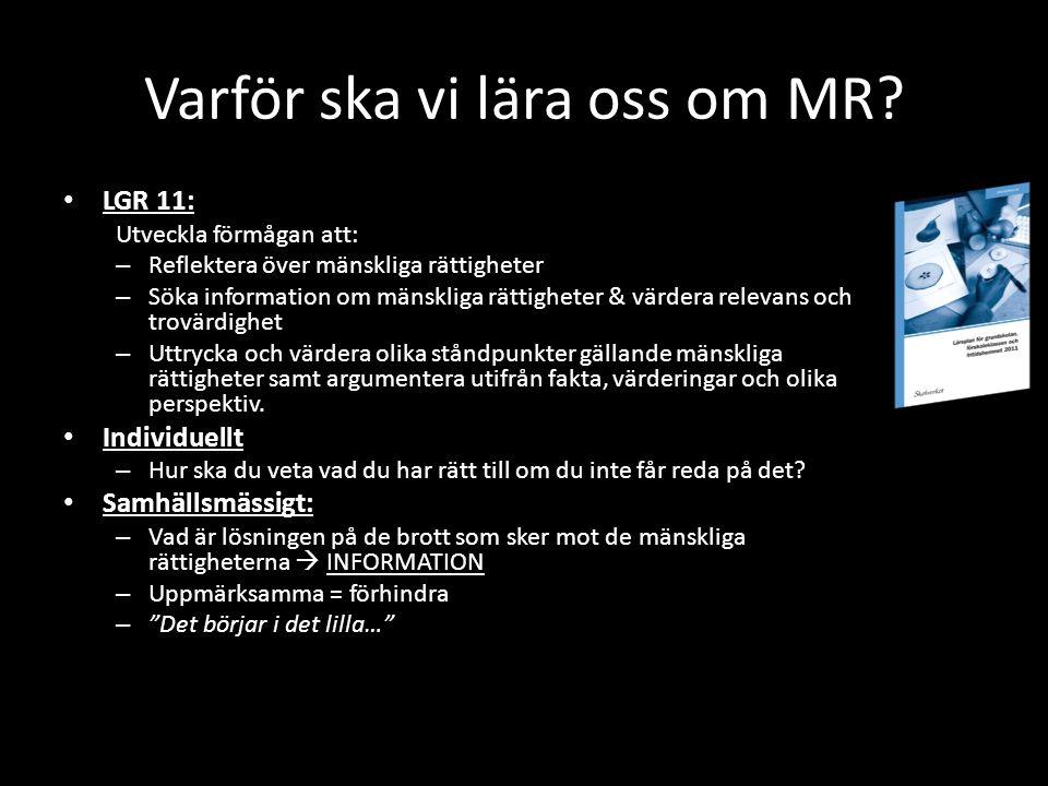Varför ska vi lära oss om MR