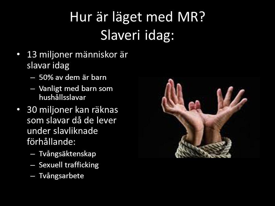 Hur är läget med MR Slaveri idag: