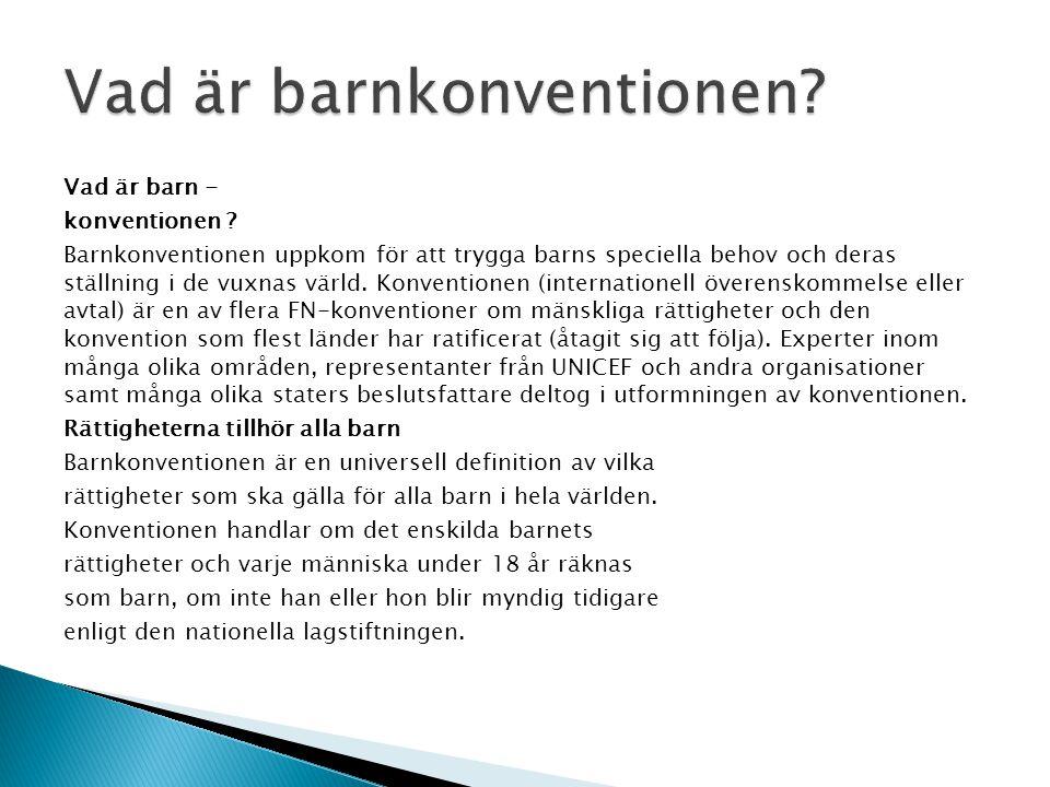 Vad är barnkonventionen