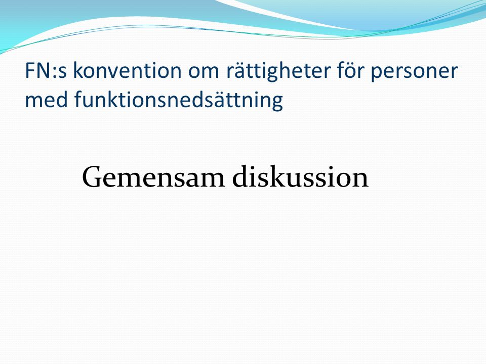 FN:s konvention om rättigheter för personer med funktionsnedsättning