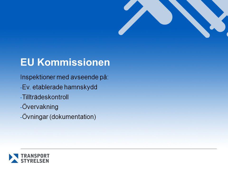 EU Kommissionen Inspektioner med avseende på: Ev. etablerade hamnskydd