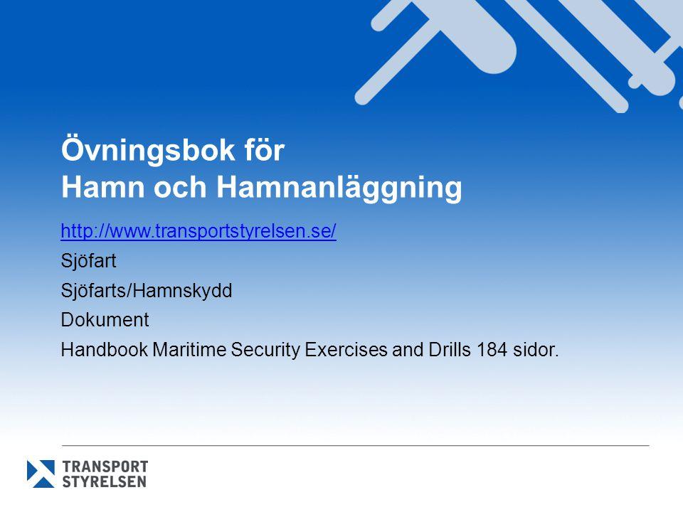 Övningsbok för Hamn och Hamnanläggning