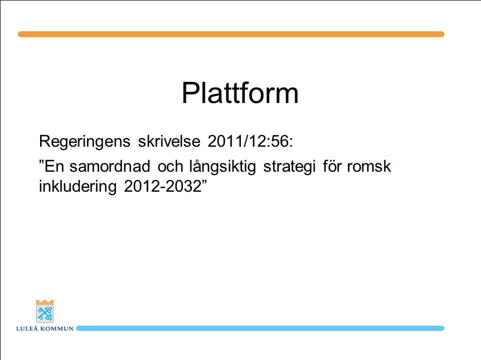 Plattform Regeringens skrivelse 2011/12:56:
