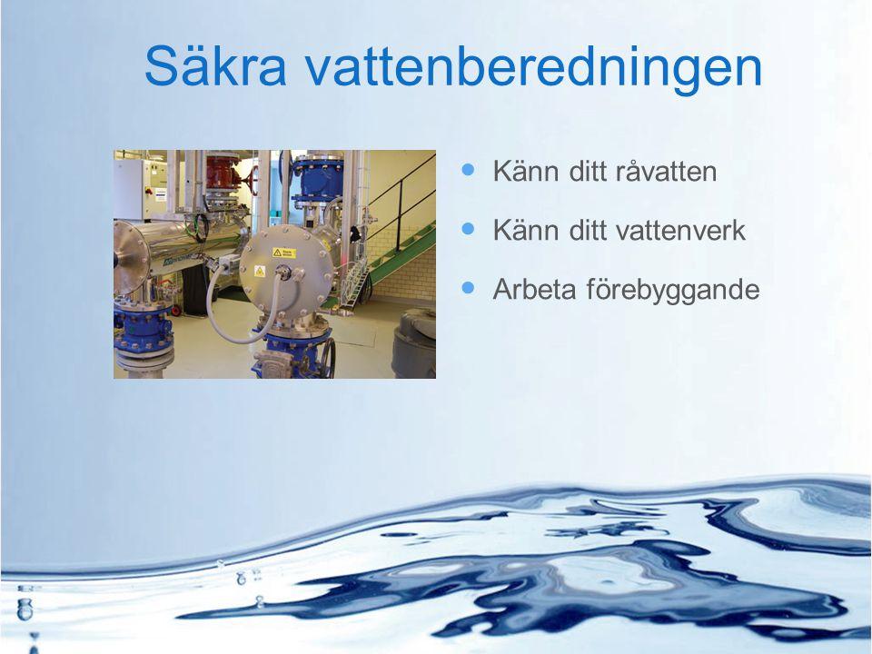 Säkra vattenberedningen