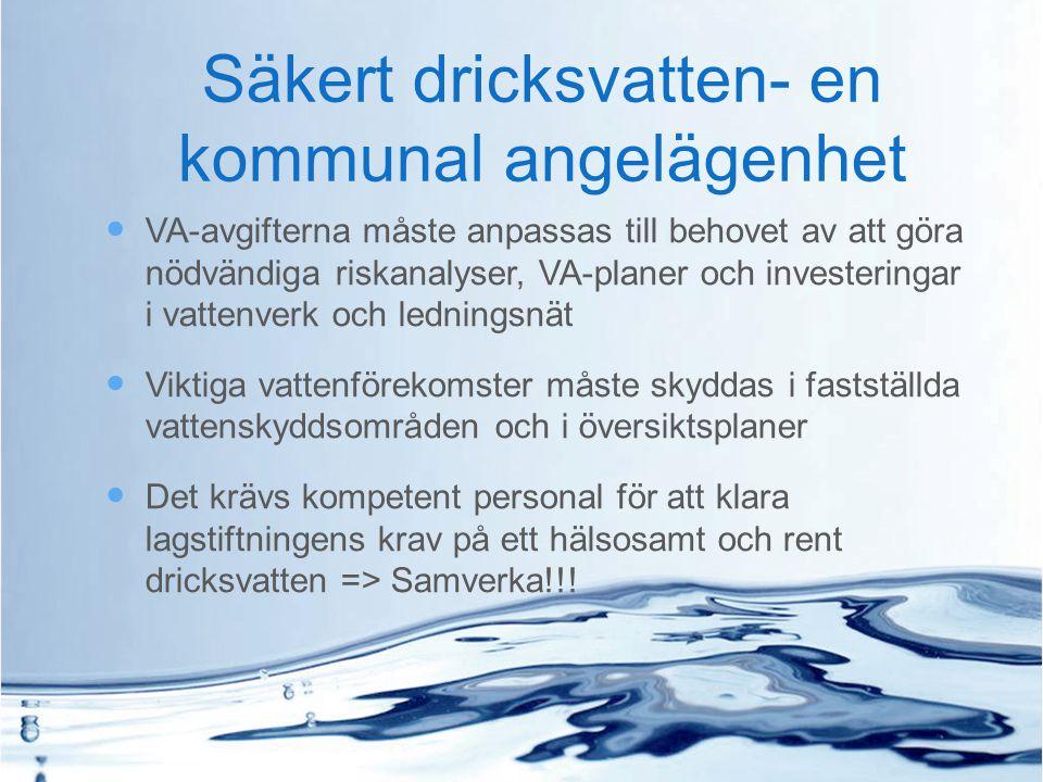 Säkert dricksvatten- en kommunal angelägenhet