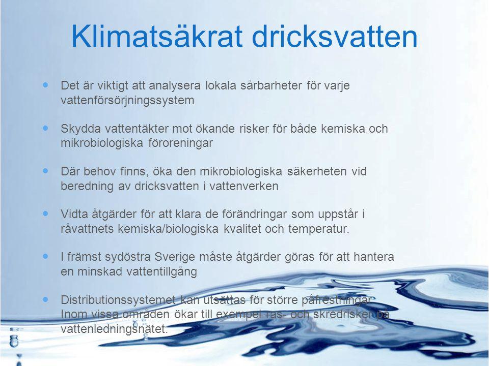 Klimatsäkrat dricksvatten