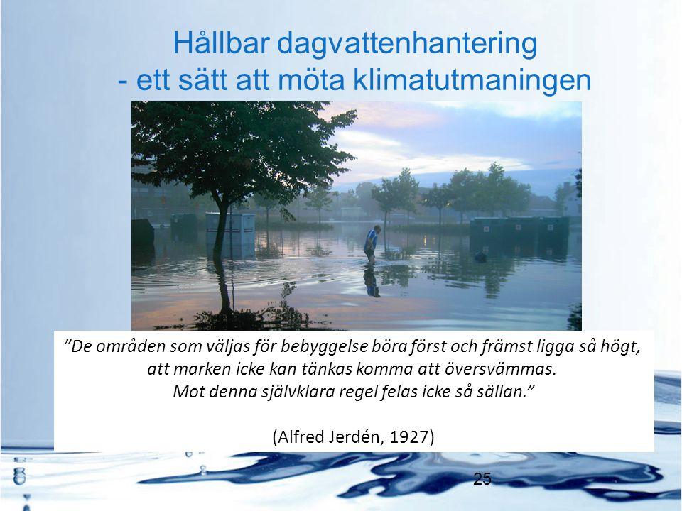 Hållbar dagvattenhantering - ett sätt att möta klimatutmaningen