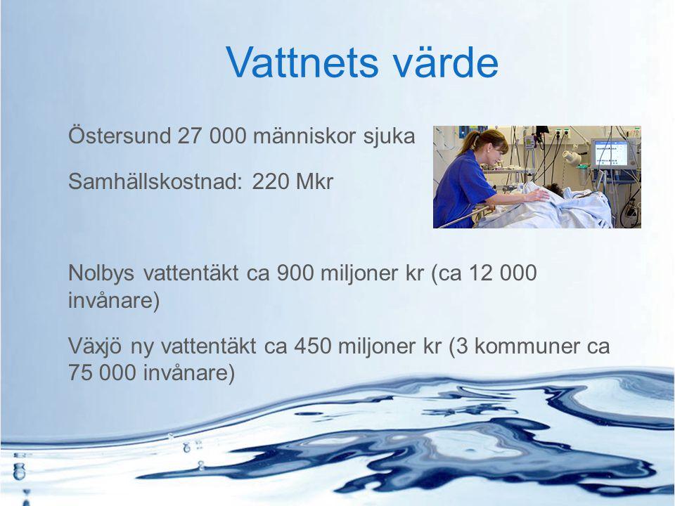 Vattnets värde Östersund 27 000 människor sjuka