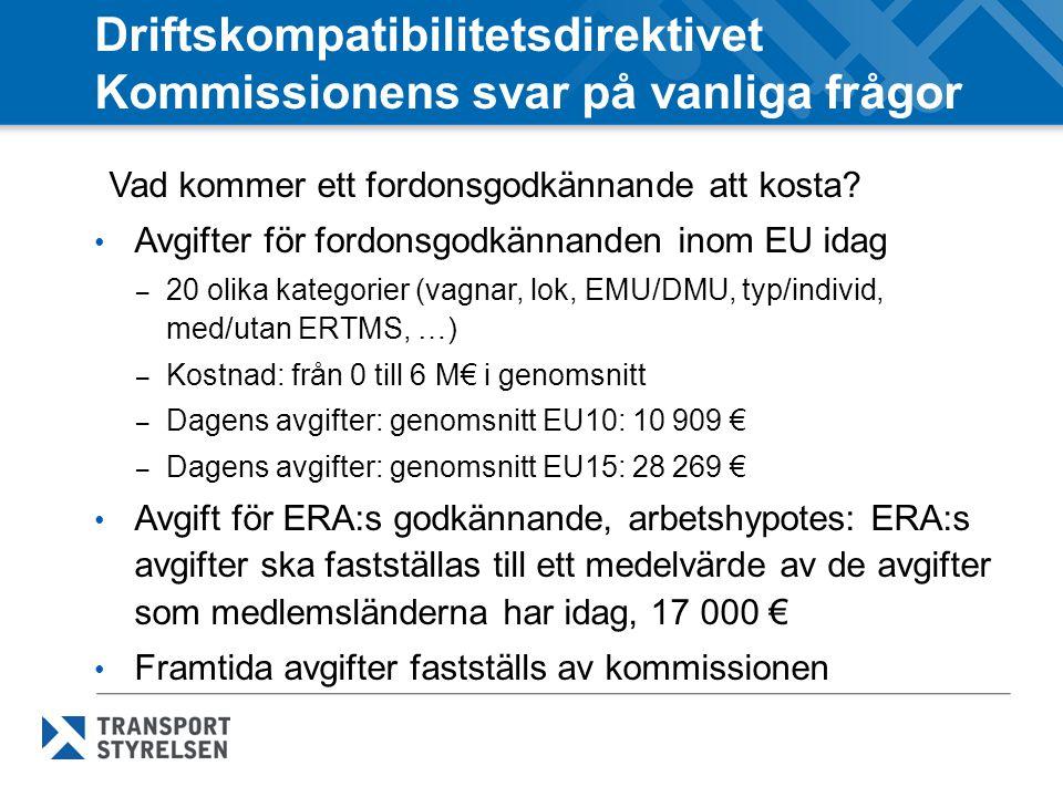 Driftskompatibilitetsdirektivet Kommissionens svar på vanliga frågor