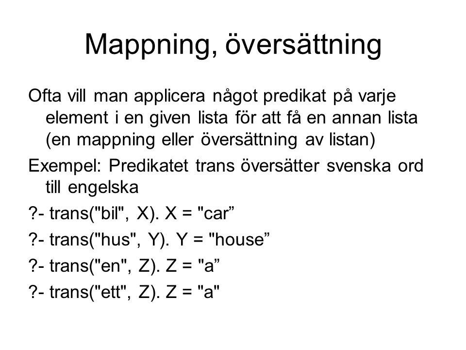 Mappning, översättning