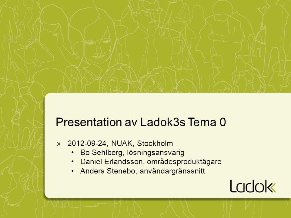 Presentation av Ladok3s Tema 0