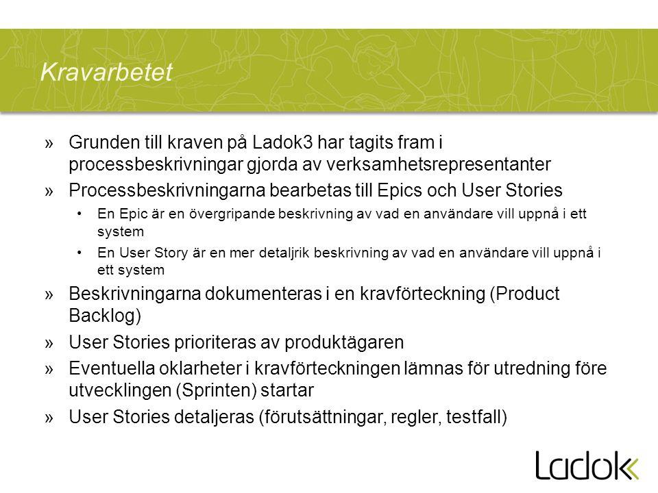 Kravarbetet Grunden till kraven på Ladok3 har tagits fram i processbeskrivningar gjorda av verksamhetsrepresentanter.