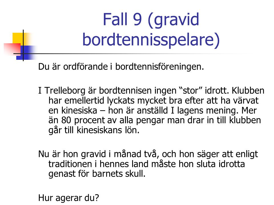 Fall 9 (gravid bordtennisspelare)