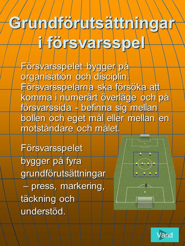 Grundförutsättningar i försvarsspel