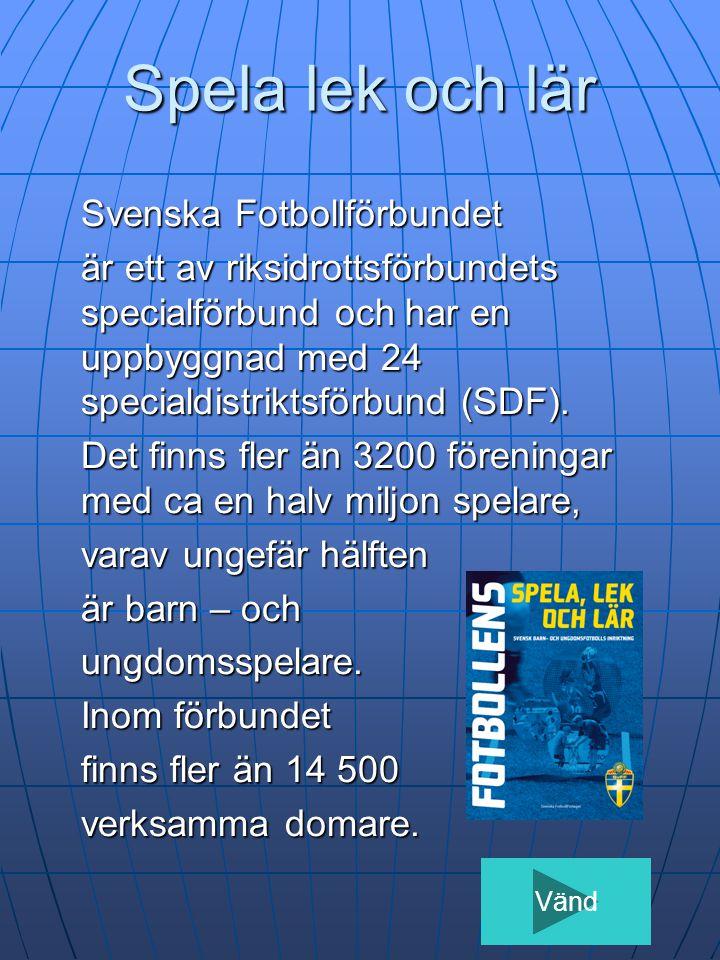 Spela lek och lär Svenska Fotbollförbundet