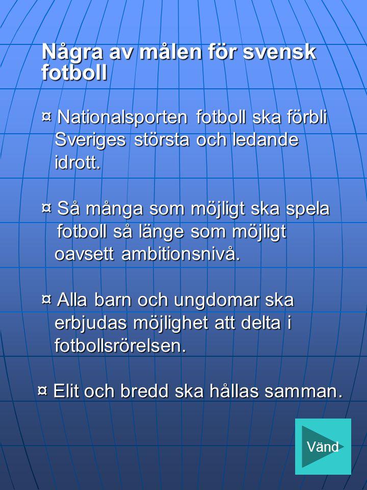 Några av målen för svensk fotboll