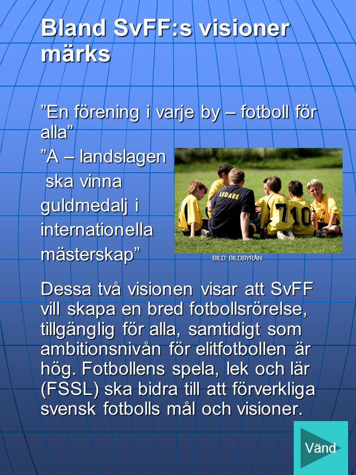 Bland SvFF:s visioner märks