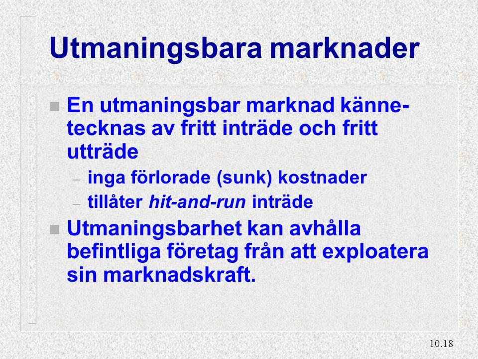 Strategiska inträdeshinder